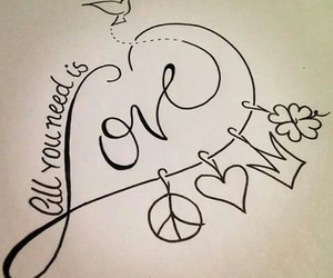 tattoo, peace, and love image