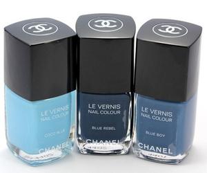 blue, chanel, and nail polish image