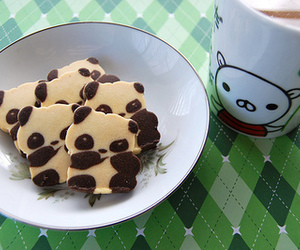 panda, Cookies, and food image