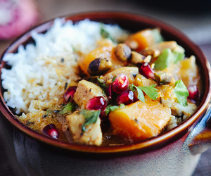 Chicken, curry, and food image