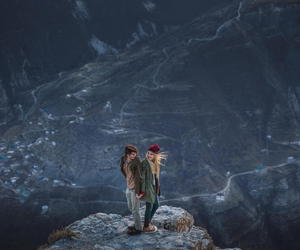 love, girl, and mountains image