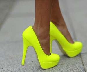 shoes, neon, and heels image