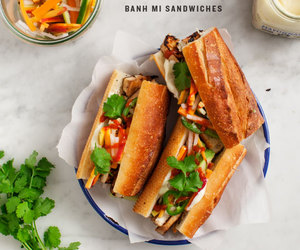 food, sandwich, and tofu image