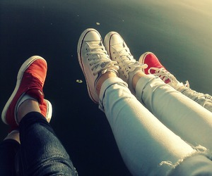 converse, jeans, and nice image