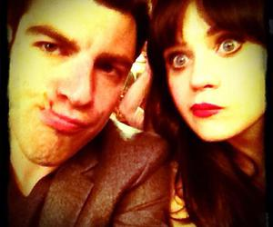 zooey deschanel, max greenfield, and new girl image