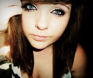 girl, blue eyes, and pretty image