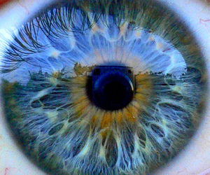 eye, reflection, and wow image