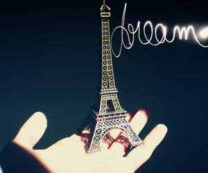Dream and eiffel tower image