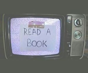 book, quote, and tv image