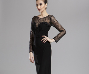 lace prom dress, promgoers.com, and long prom dress image