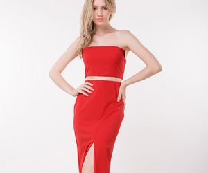 evening dresses, red prom dress, and promgoers.com image