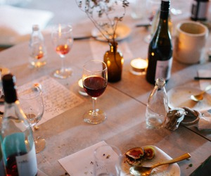 wine, dinner, and food image