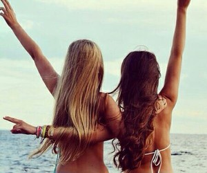 best friends, blonde, and boho image