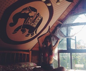 hippie, room, and yoga image