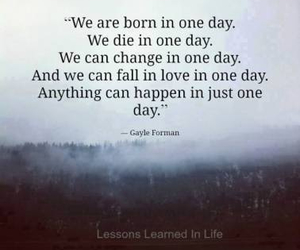 quotes, life, and one day image