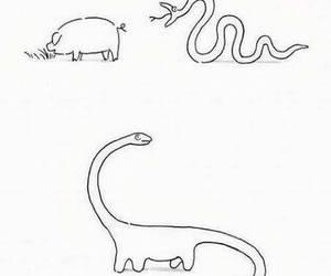 pig, snake, and dinosaur image