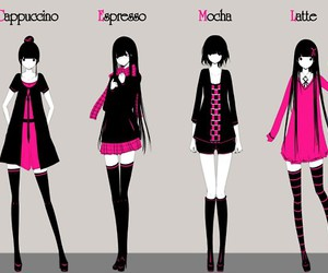 anime, black, and pink image