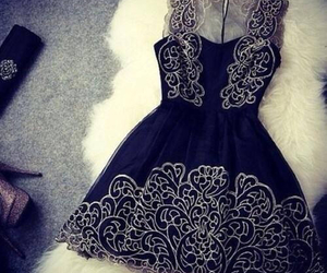 black, drees, and ft image