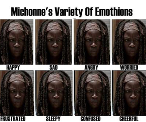 michonne, twd, and the walking dead image