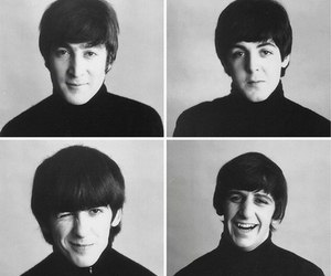 b&w, beatles, and ringo starr image