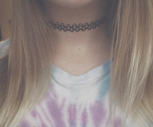choker, grunge, and hipster image