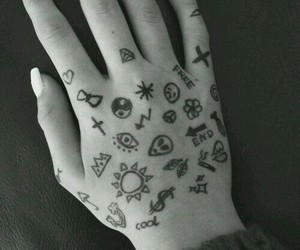 grunge, hand, and things image