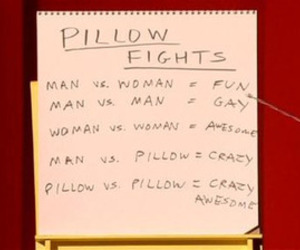 demetri martin and pillow fight image
