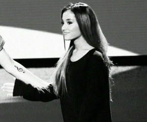 ariana grande, black and white, and perfect image