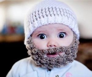 cute, baby, and beard image
