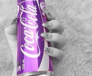 beuty, coca cola, and nails image