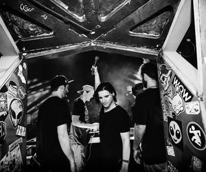 black and white, dubstep, and skrillex image