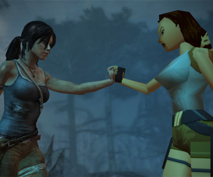 game, lara croft, and tomb raider image