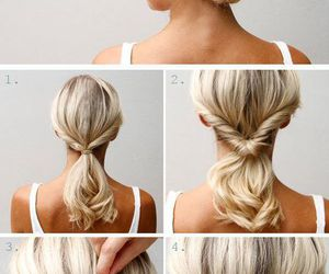 beauty, bun, and style image