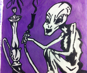 alien, draw, and drawing image