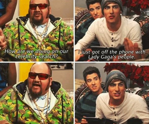 funny, kendall schmidt, and Lady gaga image