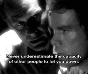 Dexter, black and white, and dexter morgan image