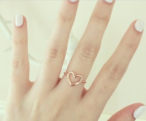 heart, nails, and ring image