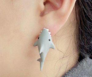 shark, earrings, and cool image