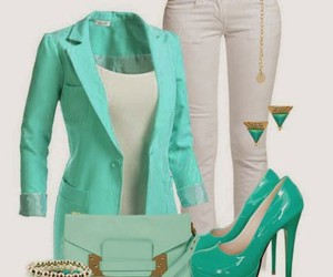 outfit, clothes, and heels image