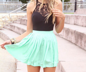 lace dress, outfit, and skirt image