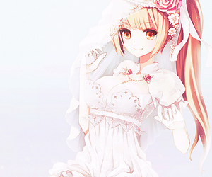 anime, anime girl, and wedding image