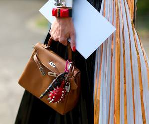 hermes, street style, and kelly bag image