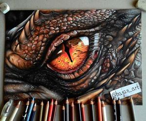 art, dragon, and drawing image