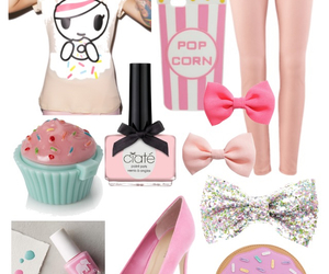 bows, cupcakes, and donut image
