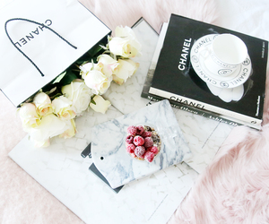 chanel, bag, and book image