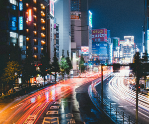 city, lights, and street image