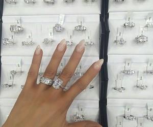 nails, diamond, and rings image