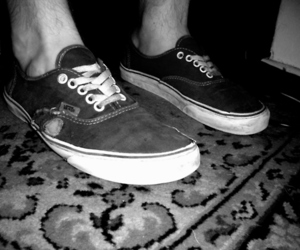 black and white, old, and shoes image