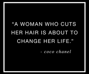 quotes, coco chanel, and hair image
