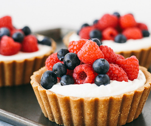 blueberries, food, and cake image